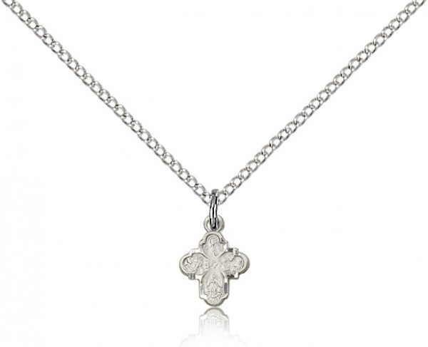 Four Way Medal for Infant - Sterling Silver