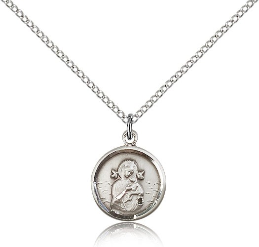 Petite Our Lady of Perpetual Help Medal - Sterling Silver