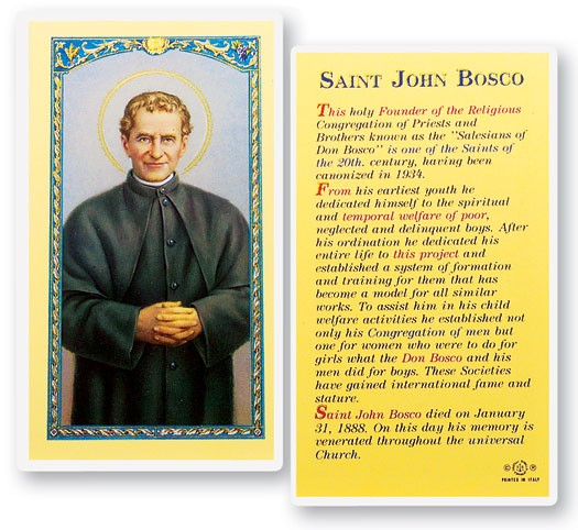 a look at the life of st john bosco Of my life i dreamed that i was near my home, in a very large playing field where  a crowd  but how can you order me to do something that looks so impossible   don bosco was preparing to say mass in the church of st francis of assisi.