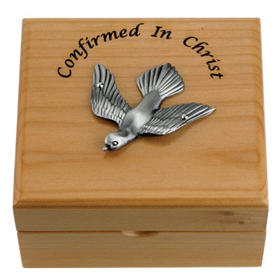 Confirmation Maple Wood Keepsake Box   - Light Brown
