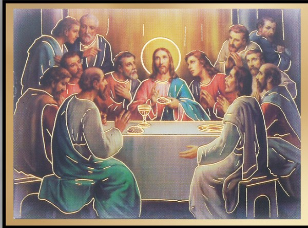 The Last Supper Magnetic Frame 4 Per Pack - Full Color