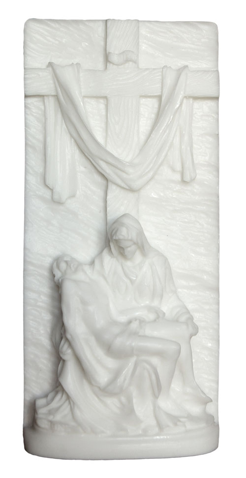 Pieta Wall Plaque - White