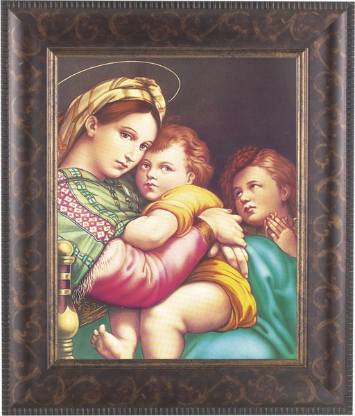 Madonna and Child with Saint Gabriel Framed Print - #124 Frame