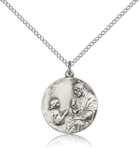Girl's First Communion Medal - Sterling Silver