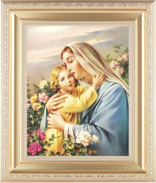 Madonna and Child in the Garden Framed Print - #138 Frame