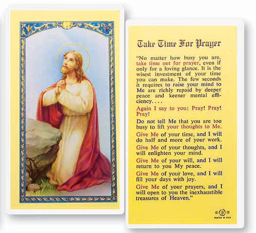 Take Time For Laminated Prayer Cards 25 Pack - Full Color