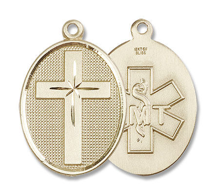 Cross EMT Pendant - 14K Solid Gold