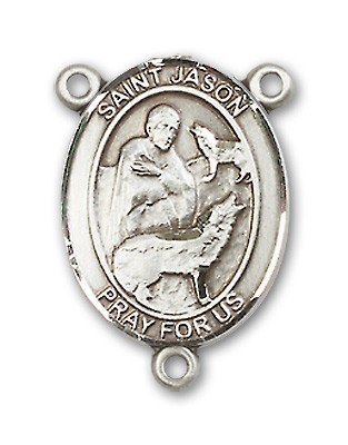St. Jason Rosary Centerpiece Sterling Silver or Pewter - Sterling Silver