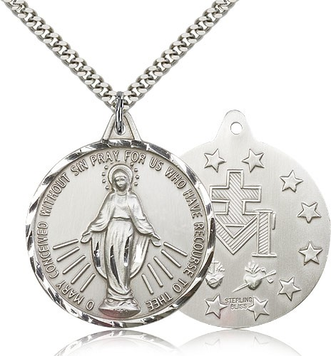 Sterling Silver Themed Jewelry Pendants /& Charms Solid 20 mm 25 mm Polished Matte Finish Holy Communion Pendant