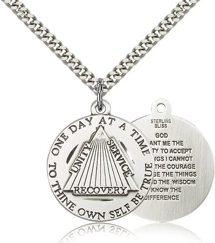 Men's Recovery Medal - Sterling Silver