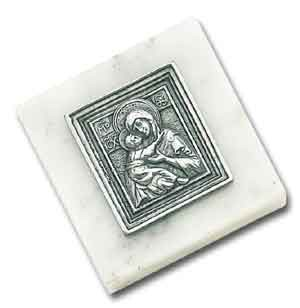 Madonna and Child Paperweight - White