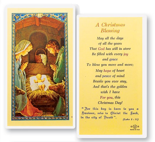 A christmas blessing holy card laminated prayer cards 25 pack a christmas blessing holy card laminated prayer cards 25 pack full color m4hsunfo