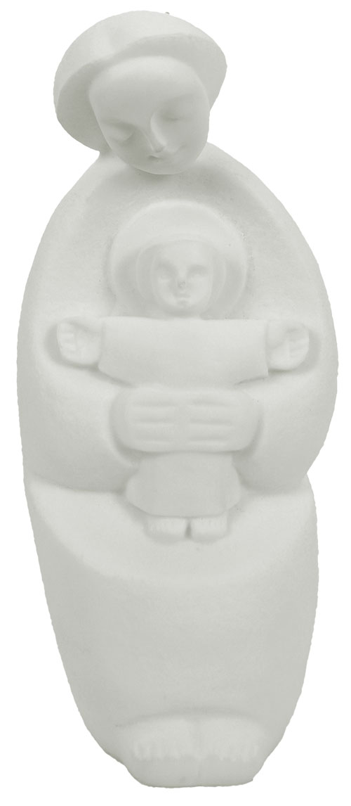 Madonna with Child Statue 7 Inch - White