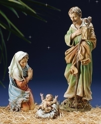 "Holy Family Nativity Set - 27.5""H - Multi-Color"