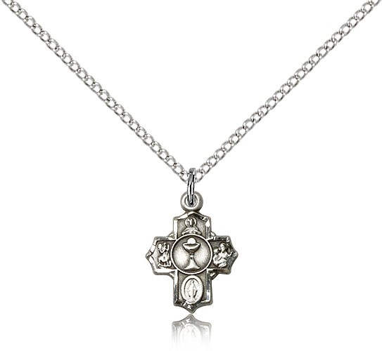 First Communion 5-Way Pendant - Sterling Silver