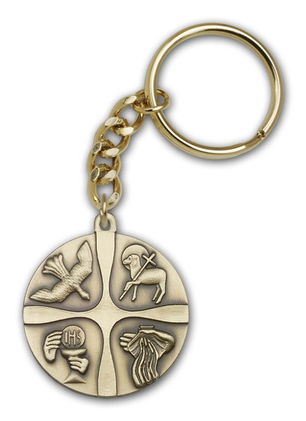 Christian Life Keychain - Antique Gold