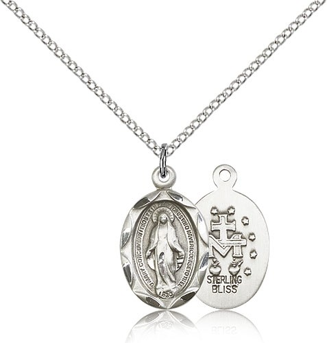 Women's Miraculous Medal - Sterling Silver