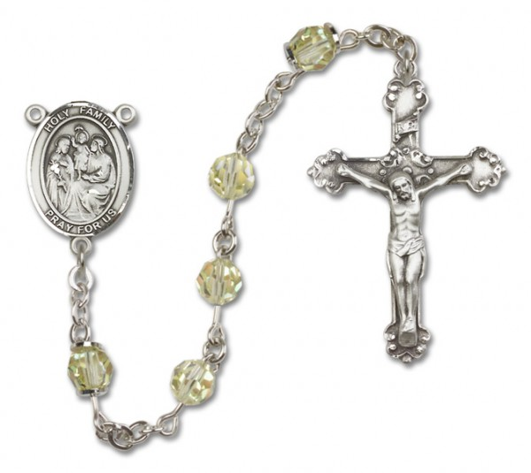 Holy Family Rosary Heirloom Fancy Crucifix - Jonquil