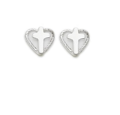 Heart Shaped Earrings - Sterling Silver