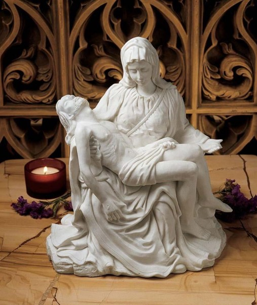 Pieta Sculpture - White