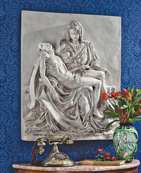 Pieta Wall Plaque - Stone