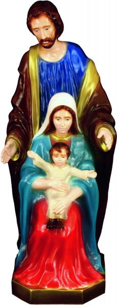 Plastic Holy Family Statue - 24 inch - Full Color