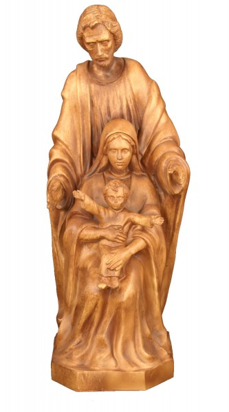 Plastic Holy Family Statue - 24 inch - Woodstain