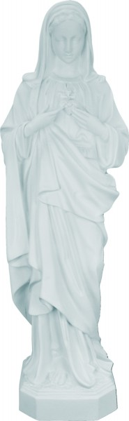Plastic Immaculate Heart of Mary Statue - 24 inch - White