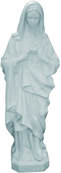 Plastic Immaculate Heart of Mary Statue - 36 inch - White
