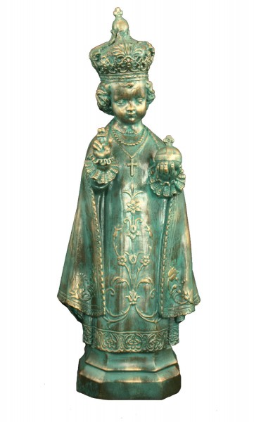 Plastic Infant of Prague Statue - 24 inch - Patina