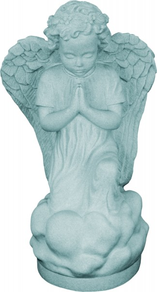 Plastic Kneeling Angel Statue - 16 inch - Granite