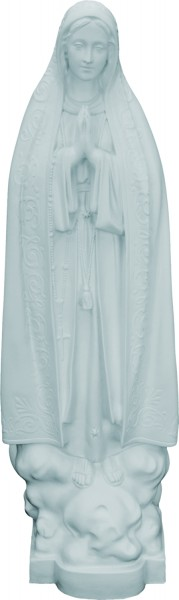 Plastic Our Lady of Fatima Statue - 32 inch - White