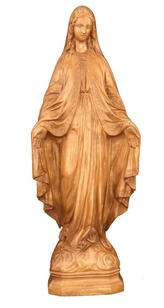 Plastic Our Lady of Grace Statue - 24 inch - Woodstain