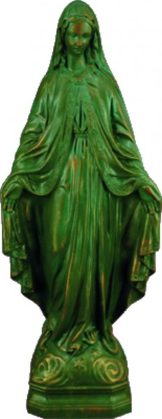 Plastic Our Lady of Grace Statue - 24 inch - Patina