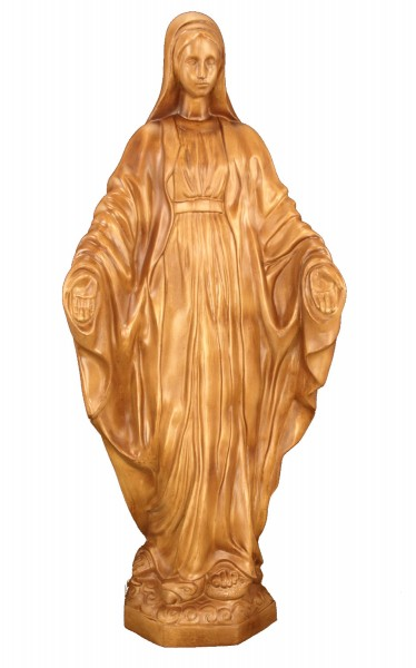 Plastic Our Lady of Grace Statue - 32 inch - Woodstain