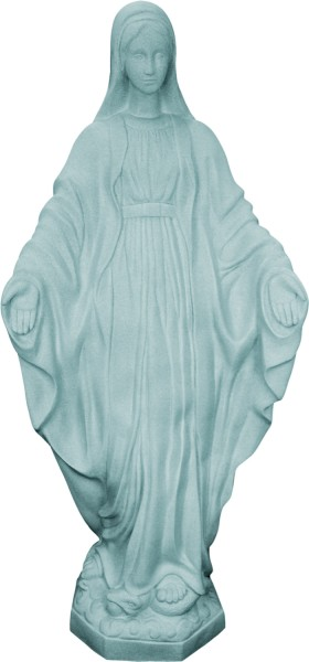 Plastic Our Lady of Grace Statue - 32 inch - Granite