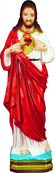 Plastic Sacred Heart Statue - 24 inch - Full Color