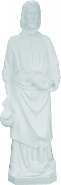 Plastic Saint Joseph the Worker Statue - 24 inch - White
