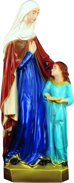 Plastic Saint Anne Statue - 24 inch - Full Color