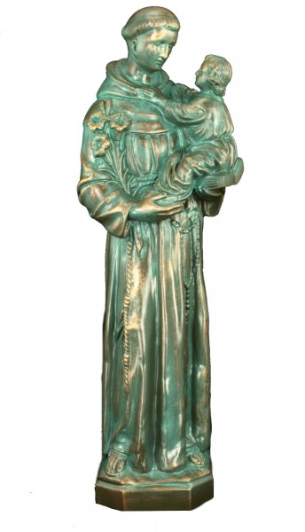 Plastic St. Anthony & Child Statue - 24 inch - Patina