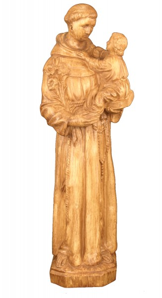 Plastic St. Anthony & Child Statue - 24 inch - Woodstain