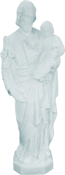 Plastic Saint Joseph & Child Statue - 24 inch - White