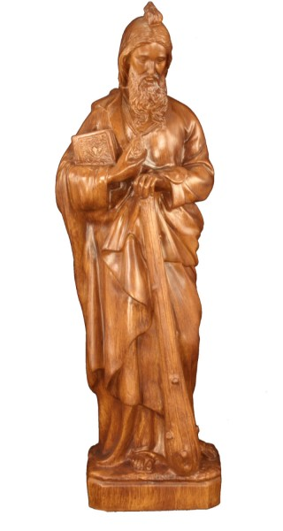 Plastic St. Jude Statue - 24 inch - Woodstain