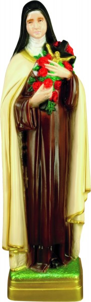 Plastic Saint Theresa Statue - 24 inch - Full Color