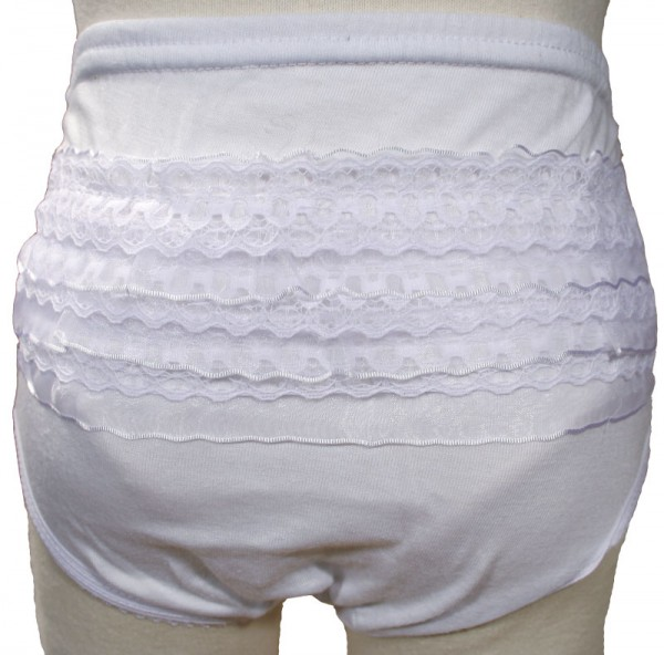 Poly-cotton Knit Diaper Cover - White