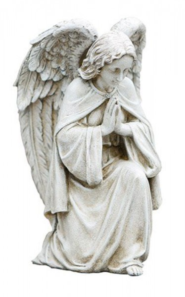 "Praying Angel Garden Statue 12"" High - Stone Finish"