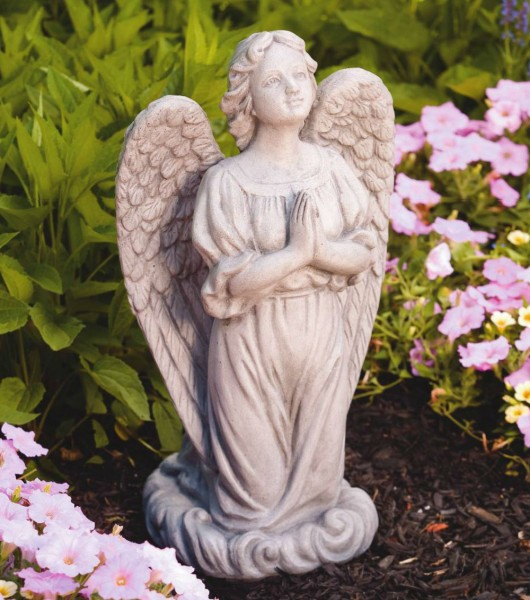 "Praying Guardian Angel Statue 20"" - Old Stone Finish"
