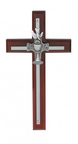 RCIA Cherry Overlay Cross - Cherry Wood