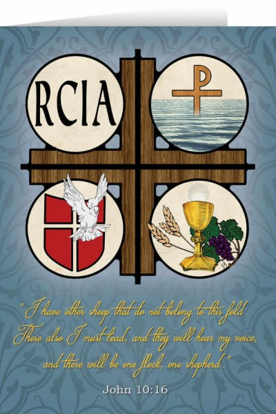 RCIA Symbols Greeting Card - Multi-Color