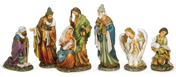 Resin Nativity Set - 16 inch - Multi-Color